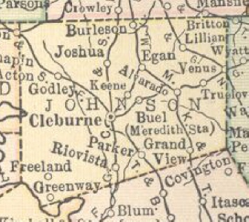 1914 Johnson Co. Map